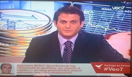 Primer tweet en TV en España